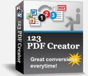 123 PDF Creator facilitates the conversion of any printable office file to PDF Instantly