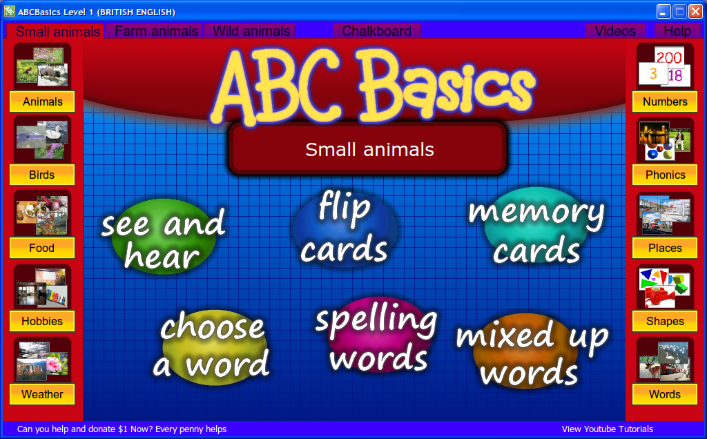 Download Free Vocabulary Software to Learn English in phonics AtoZ