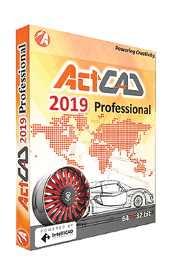 ActCAD 2019 Professional is a feature-rich and powerful 2D drafting and 3D modelling computer-aided design (CAD) software designed for engineers, architects and other technical consultants to create and edit drawings