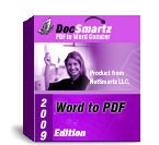 DocSmartz Word to PDF Conversion software can convert text documents to PDF files
