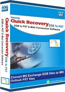 Quick Recovery for Exchange to Outlook conversion application easily restores damage emails with their attachments that gets corrupted due to virus attack, improper shut down, JET engine errors, header corruption, shutdown due to power fluctuations, deletion of user mailboxes etc