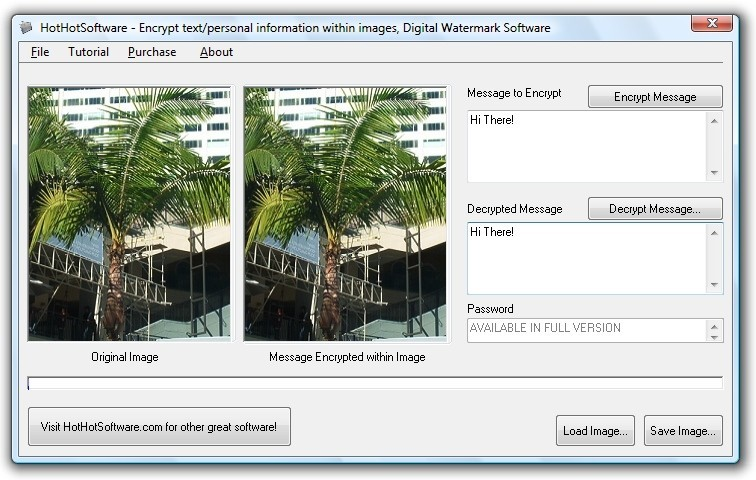 Encrypt text within images easily