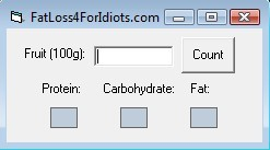 Fat loss 4 idiots fruit composition software will help you to plan your diet