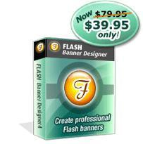 Flash Banner Designer allows you to use professionally designed website flash templates, add text and image entry effects to build flash banners in very less time