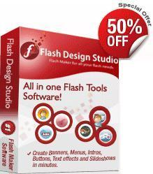WebSmartz Flash Design Software allows you to create flash objects using 1000+ predesigned flash templates