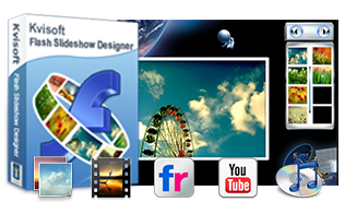Kvisoft Flash Slideshow Designer is a powerful and professional slideshow maker with music for Windows users to create flash slideshows and photo gallery with music