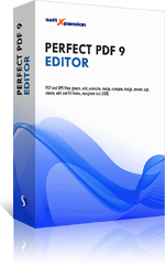 Perfect PDF 9 Editor: new version of PDF editor for powerful processing of PDF documents