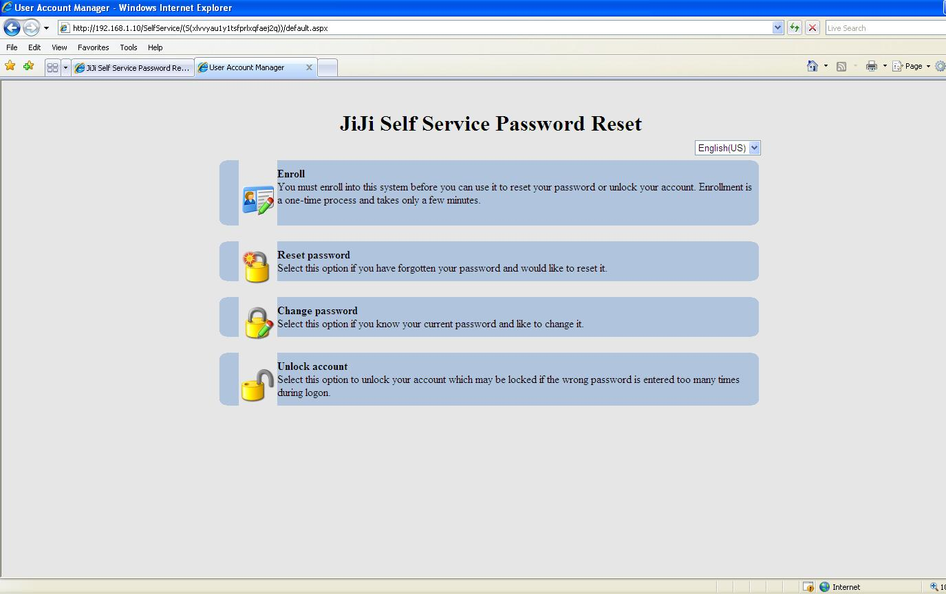 Self Service Password Reset JiJi Self Service Password reset