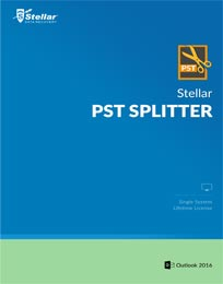Stellar PST Splitter is efficient and quick utility to split large PST file into comparatively smaller PSTs