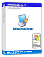 All in one Cleaner is a suite of tools to clean your system, it includes Disk Cleaner, Registry Cleaner, History Cleaner, and Startup Cleaner