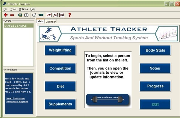 Athlete Tracker is a powerful professional software for athletes, bodybuilders, personal trainers, and other fitness enthusiasts