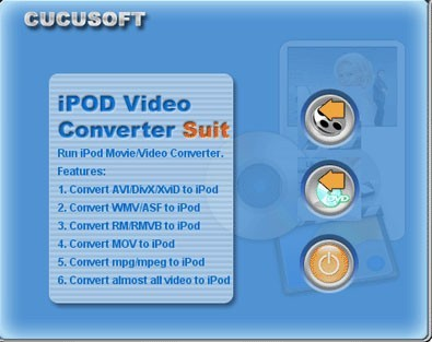 Cucusoft iPod Video Converter Suit is an all-in-one iPod video Conversion solution