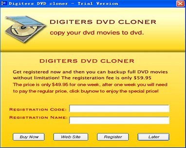 digiters DVD Cloner has an advanced, yet simple to use movie clone engine which can copy any DVD movie on the market