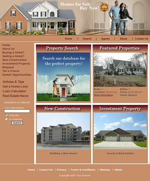 Fully Developed e3 Real Estate Management Solution Whether you are building or operate a website as an independent realtor, a realty agency or even a for sale by owner site, we are certain you will find the e3 Real Estate application affordable, simple, and a powerful addition to your growing web site