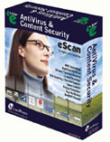 eScan Anti-Virus (AV) for Windows provides the basic security for your desktops and provides complete protection against viruses