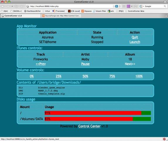 MWCC Is a web interface to remotely control your Mac