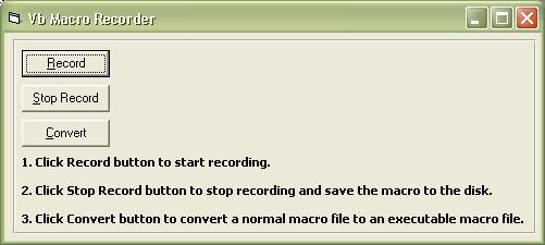 Macro Recorder component provides an easy way to enable your VB, VC++, C#,VB