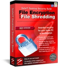 Buy SafeIT Desktop Security Suite and get both SafeIT File Encryption and SafeIT File Shredding in one powerful suite
