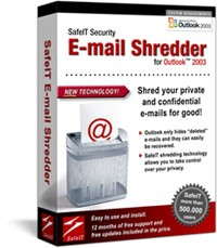 SafeIT E-mail Shredder for Outlook 2003 is a software application for permanently removing (shredding) old and deleted e-mails from your Outlook Personal Storage (