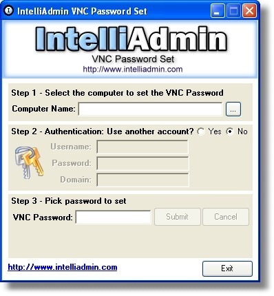 This program allows you set the password of your VNC server on your LAN
