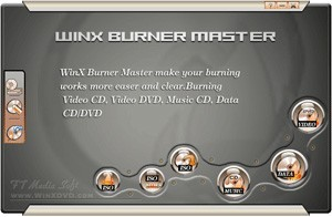 WinX Burner Master is designed as an advanced and extremely powerful CD and DVD burning tool