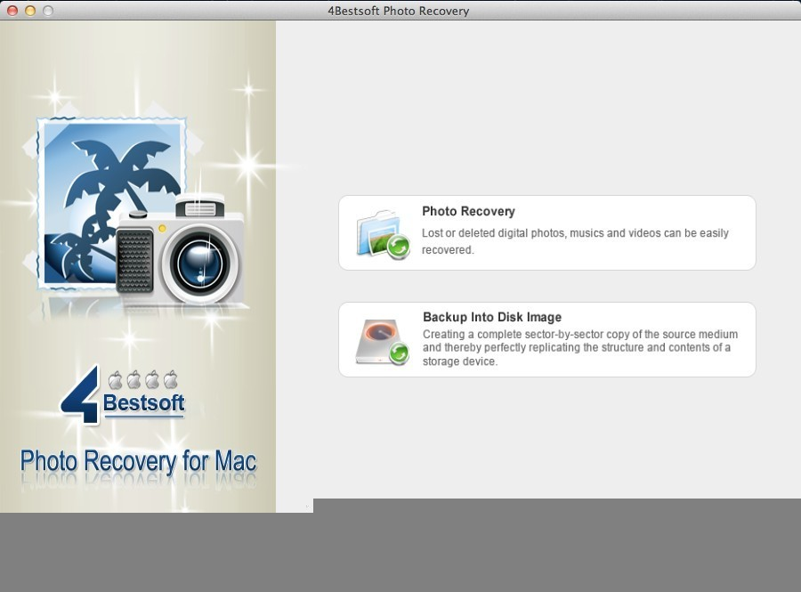 4Bestsoft Photo Recovery For Mac Screenshot