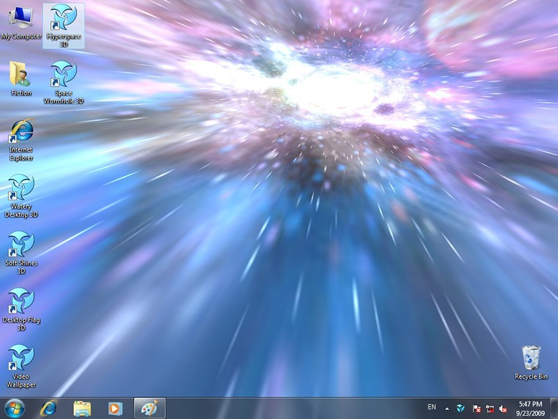 Add life to your desktop wallpaper! Hyperspace 3D is an animated ...