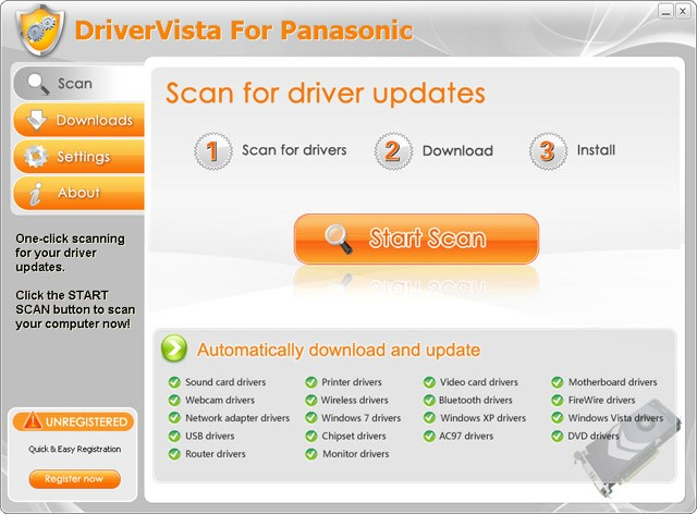 DriverVista For Panasonic
