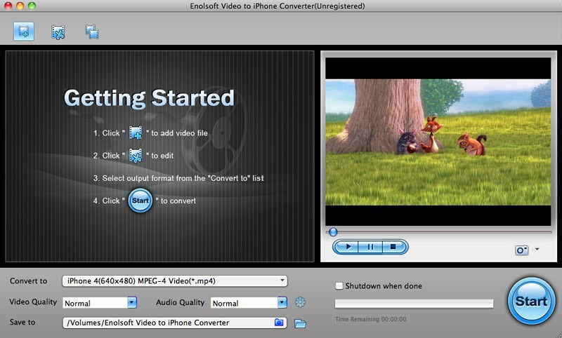Enolsoft Video to iPhone Converter for Mac