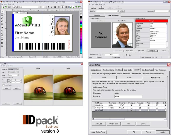 Id card software for Asure id templates