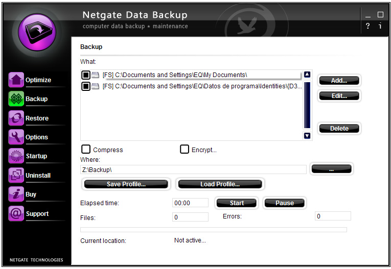 NETGATE Data Backup