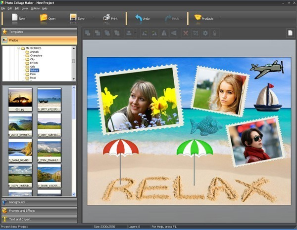 photo collage maker is a digital scrapbooking and photo collage