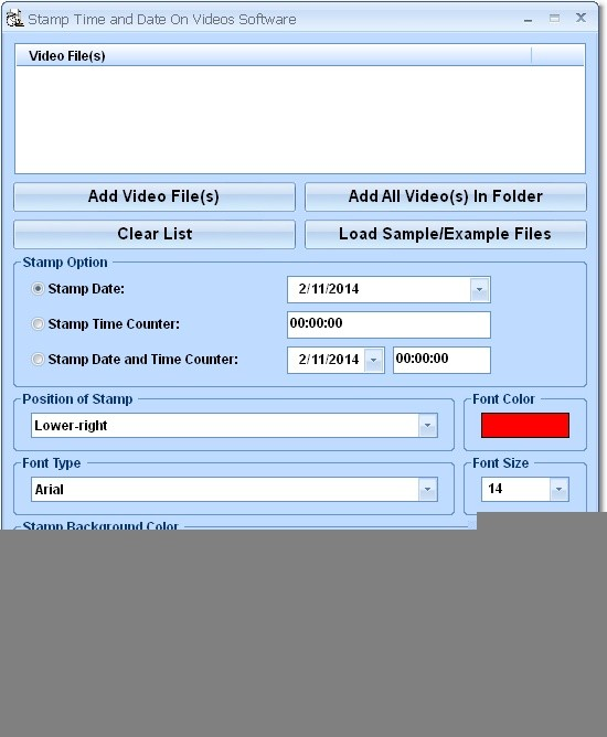 Stamp Time and Date On Videos Software. Add Date Avis Changing.
