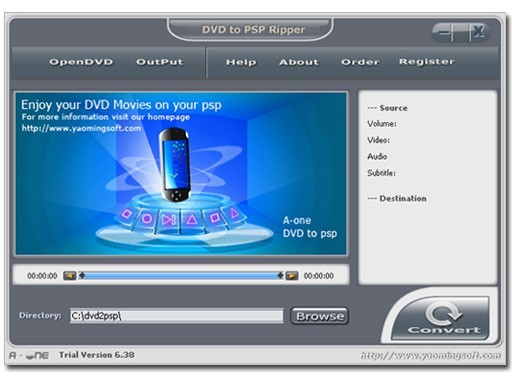 A-one DVD to PSP Ripper