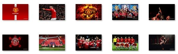 linux desktop themes wallpaper manchester united windows 7 theme 1