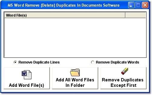 MS Word Remove (Delete) Duplicates In Documents Software