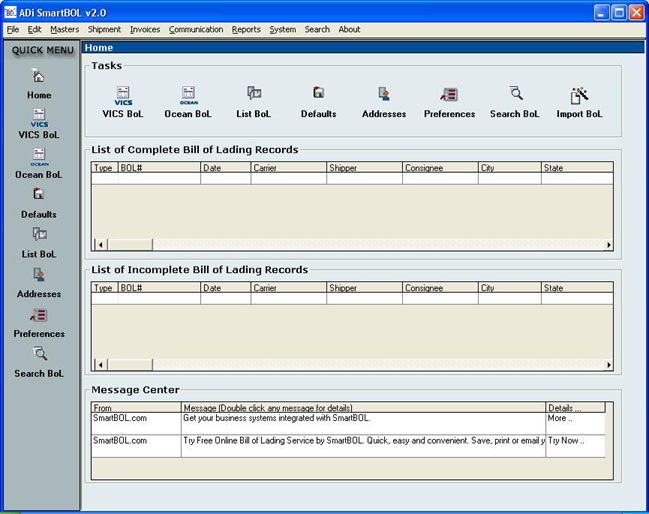 SmartBOL Bill of Lading Software