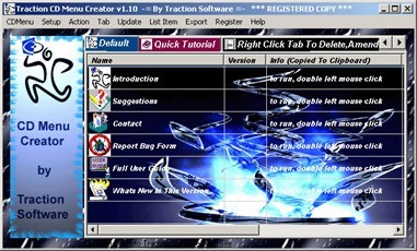 Traction CD Menu Creator