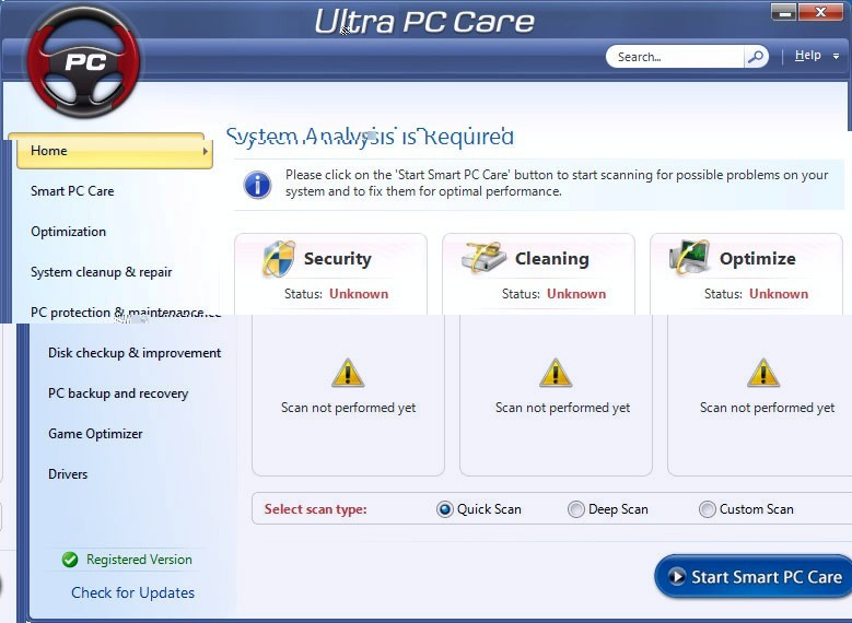 Ultra PC Care. Computer Repair Driver Updater Optimizer.