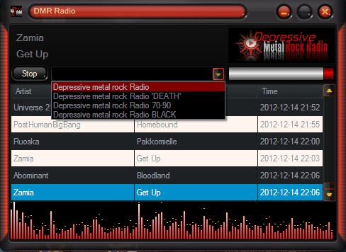 DMR-Radio Desktop Player. Depressive Desktop Metal.