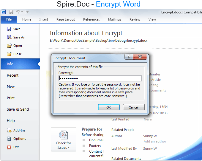 Spire.Doc Standard Edition - 4.7 Screenshot
