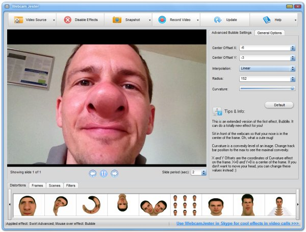 Webcam Jester. Funny Instant Messenger Video.