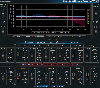 Blue Cat's Widening Parametr'EQ. Equalizer Parametric Equalizer Peak Meter.